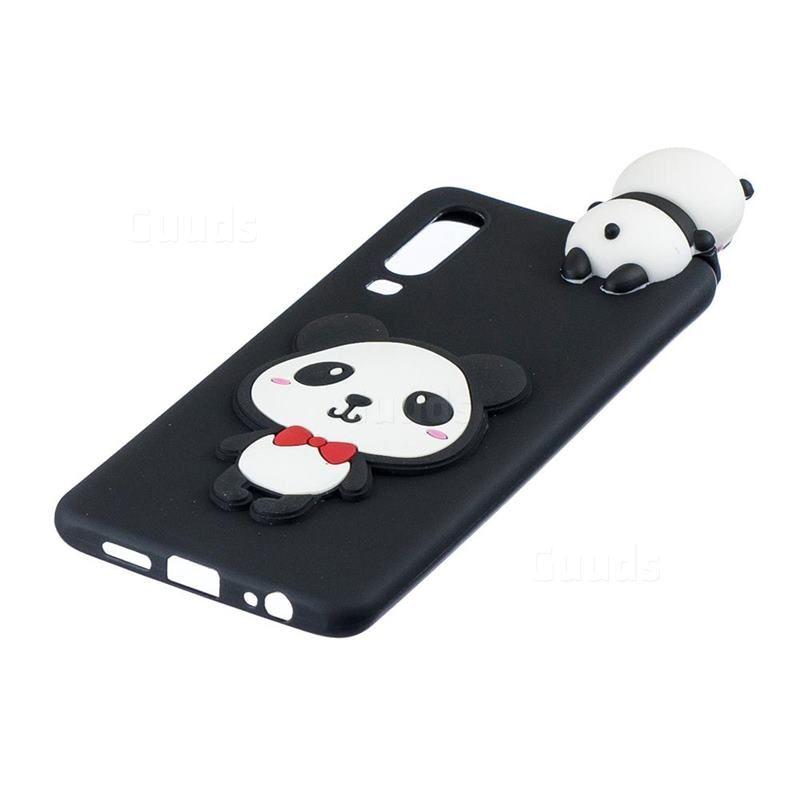 2019 的 Red Bow Panda Soft 3D Climbing Doll Soft Case for Samsung