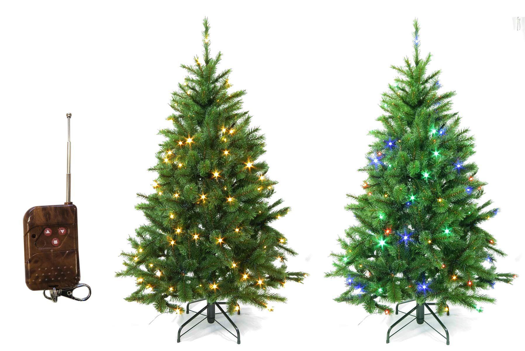 Geschmückter Künstlicher Weihnachtsbaum Mit Lichterkette.Künstlicher Weihnachtsbaum Mit Led Warmweiß Oder Bunt Wählbar über
