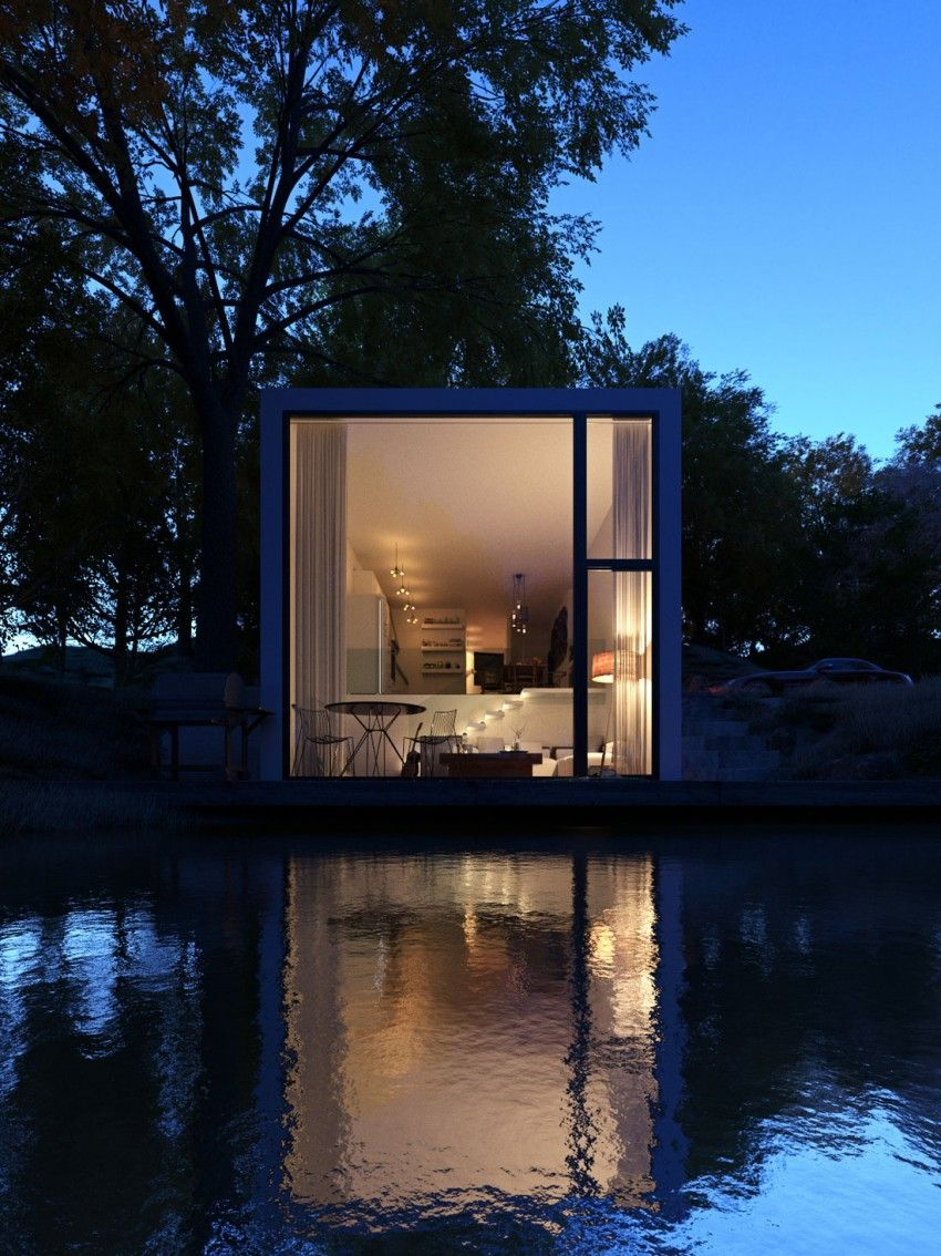 Lake House By Paulo Quartilho. WohncontainerModerne ArchitekturContainer ...