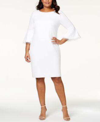 8f83c2bcfa Shop for vince camuto ruffle split sleeve shift dress at dillards ...