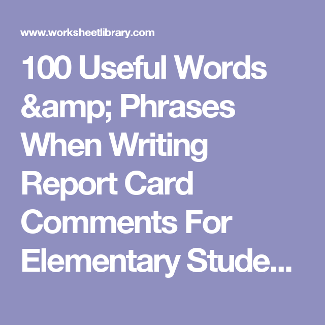 best report cards images on Pinterest   Report card comments     Finding Schools   WordPress com