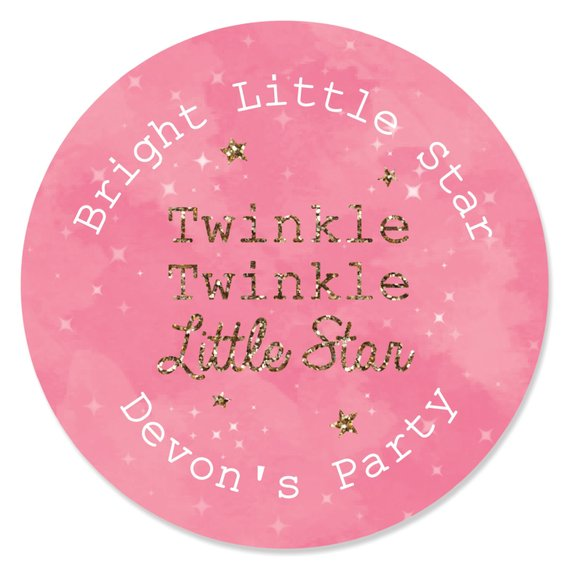 Pink Le Little Star Lip Balm Party Favors Baby Shower And 1st Birthday Supplie