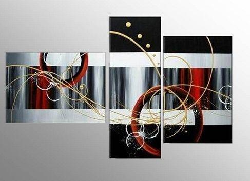 Cuadros tripticos modernos para sala cuadros abstractos for Cuadros tripticos abstractos