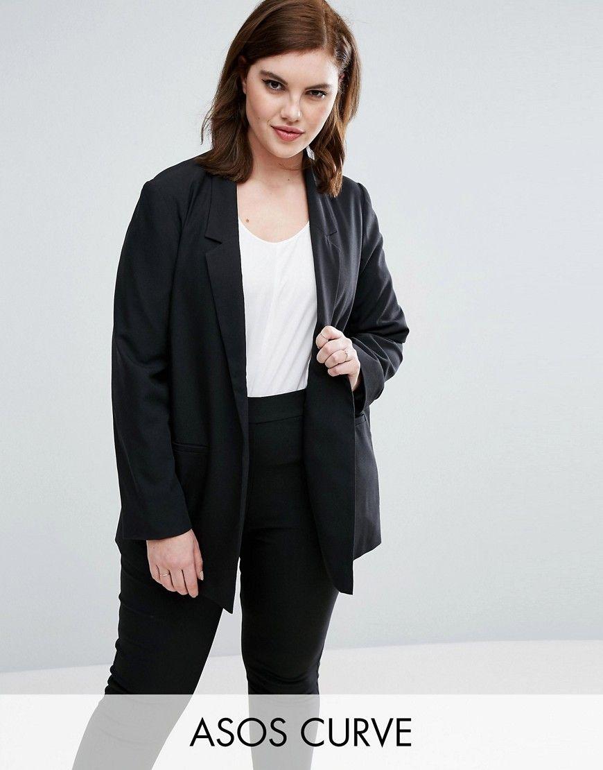 Compra Americana de mujer color negro de Asos curve al mejor precio.  Compara precios de chaquetas de tiendas online como Asos - Wossel España
