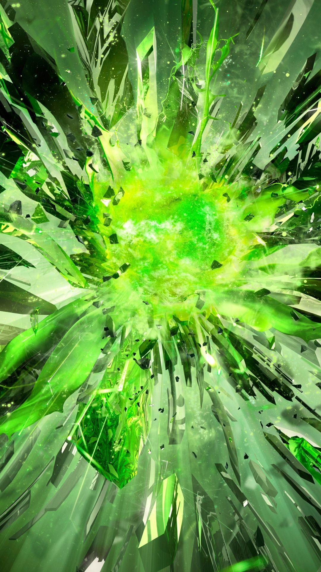 Crystals Debris Explosion Light iPhone 6 plus