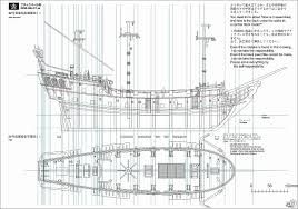 image result for pirate ship schematic drawings