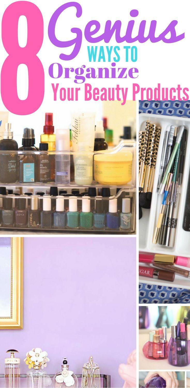 8 ways unique organize beauty products