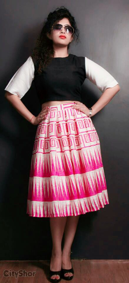 Crop top and skirt by AN'S