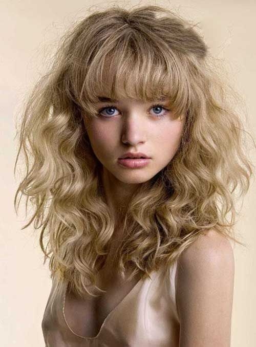30 Hairstyles For Curly Hair With Bangs Covetable Coifs Curly