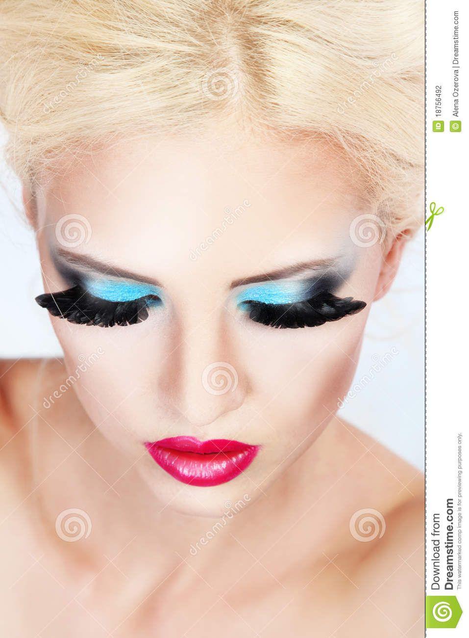 Fashion Makeup Stock Photography Image 18756492 Blue