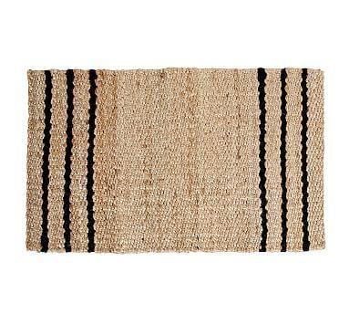 Three Stripe Natural Fiber Doormat Pottery Barn