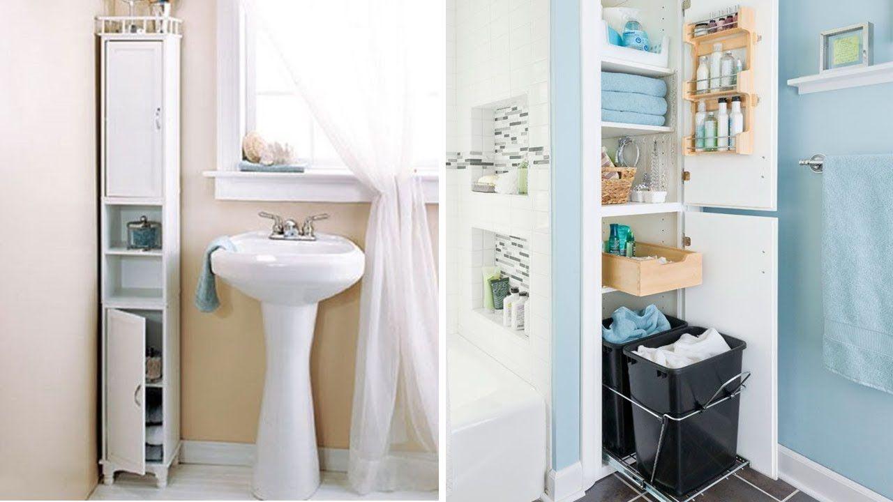 35 Small Bathroom Storage Cabinet Ideas | Storage Ideas for Small ...
