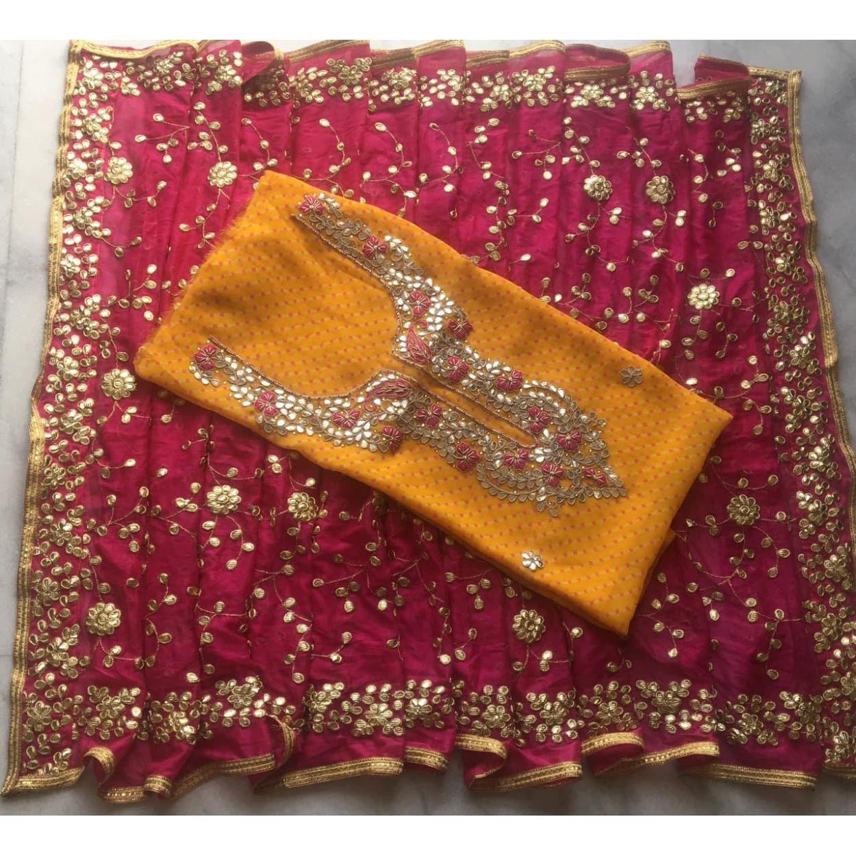 d429005b1a Buy Yellow leheriya Gota Patti Work Punjabi Suit|Salwar Kameez| Jhakhas  #like #