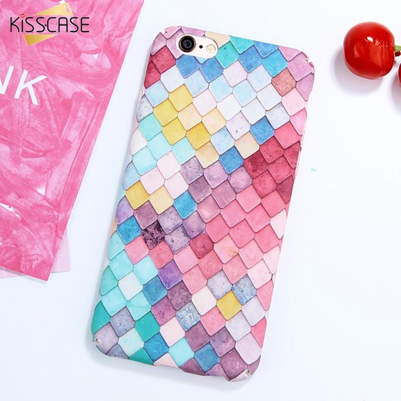 fashion colorful 3d scales squama hard phone cases for iphone 7 plus