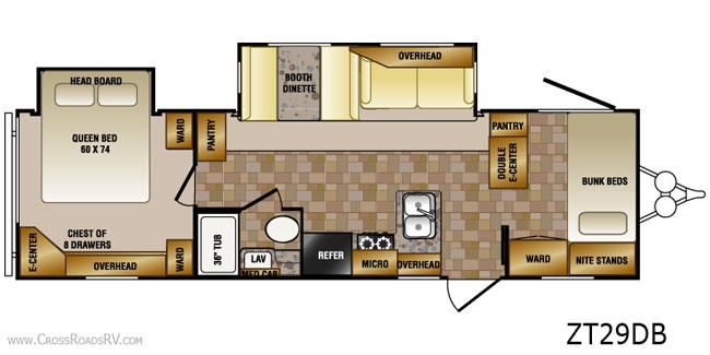 bunk house rv travel trailer floor plans Yahoo Image