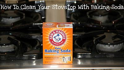 how to clean a stove top with baking soda