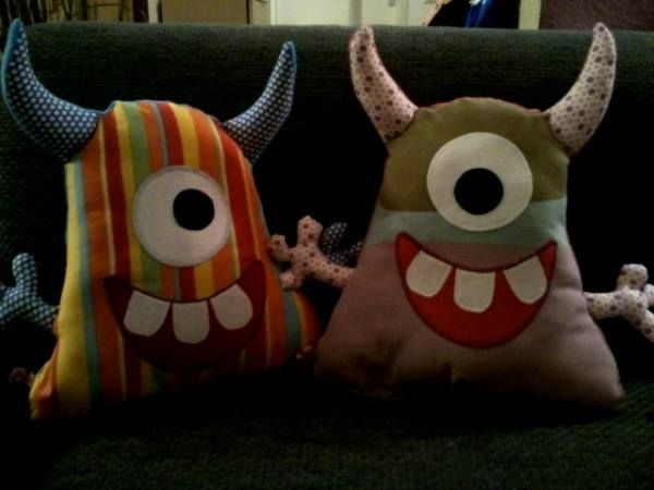 I made these Monster Pillows ;-)