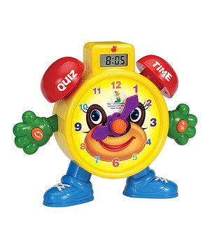 Love this Tell The Time Learning Clock by A to Z Toys on #zulily! #zulilyfinds