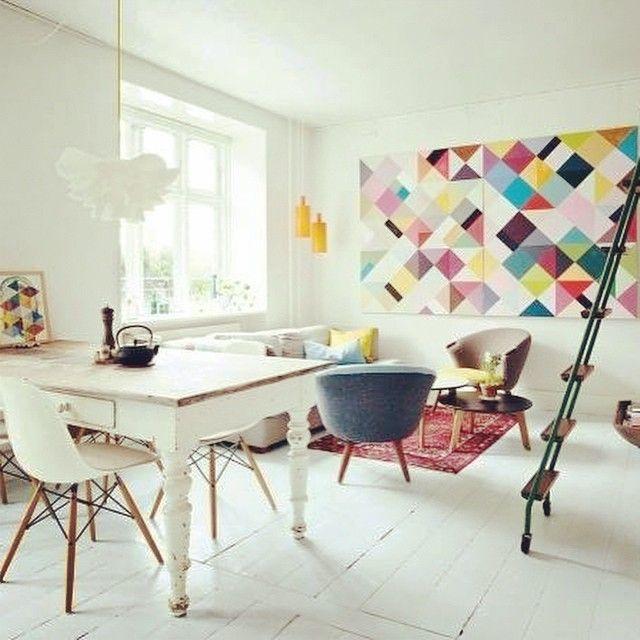 #decoration #sejour #colore #pastel