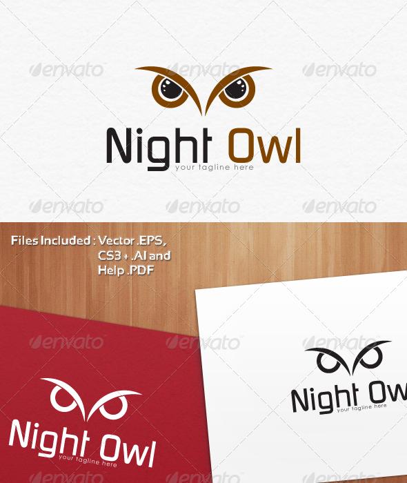 Night Owl Logo Templates Logo Templates Owl Logo Web Design Logo