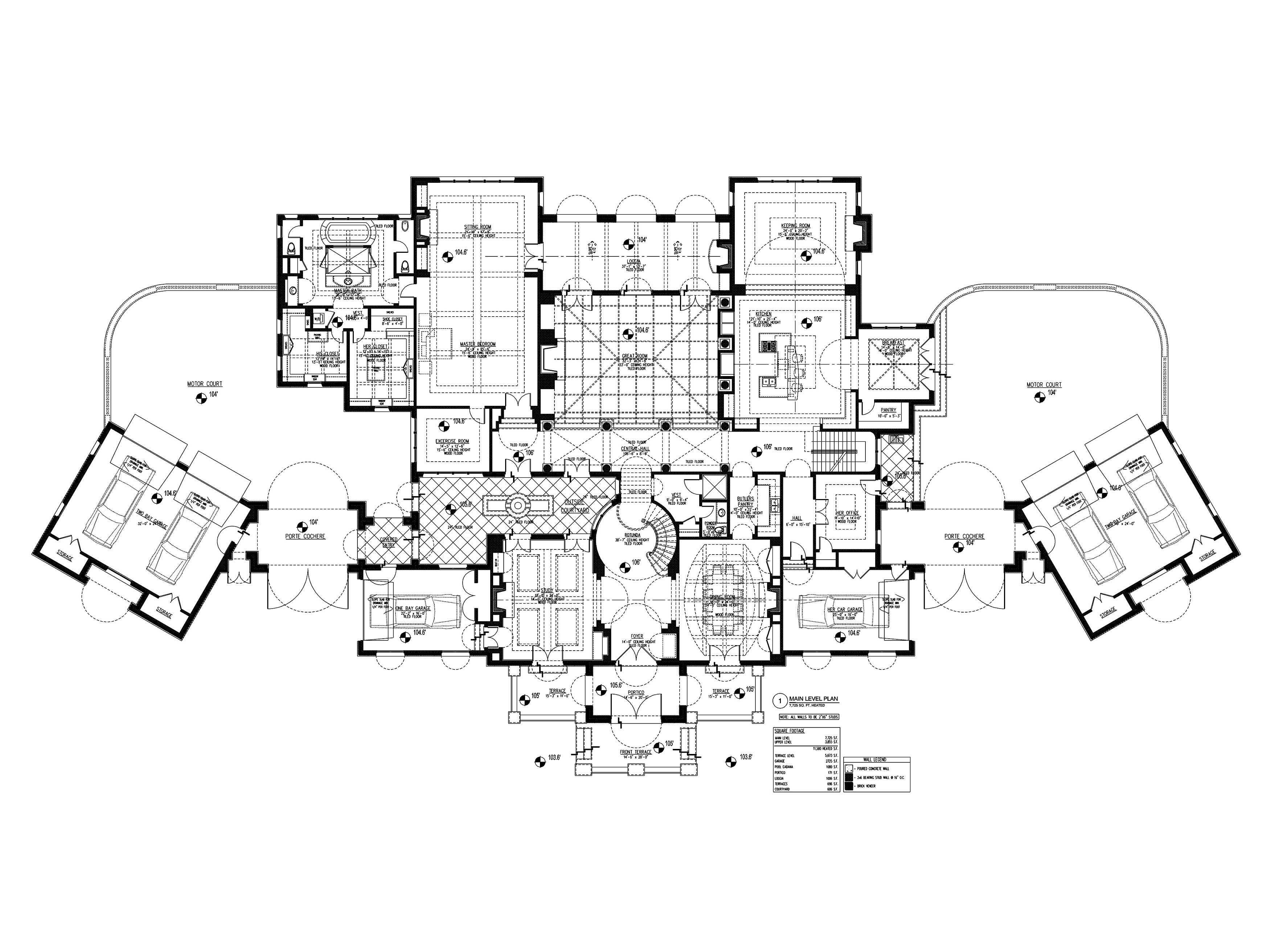 Luxury Houseplans Home Design 25255 Courtyard House Plans