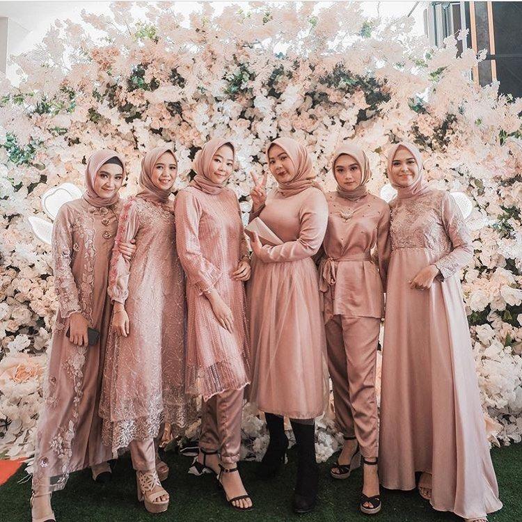Maroon Hijab Modern Wedding Dress Addicfashion