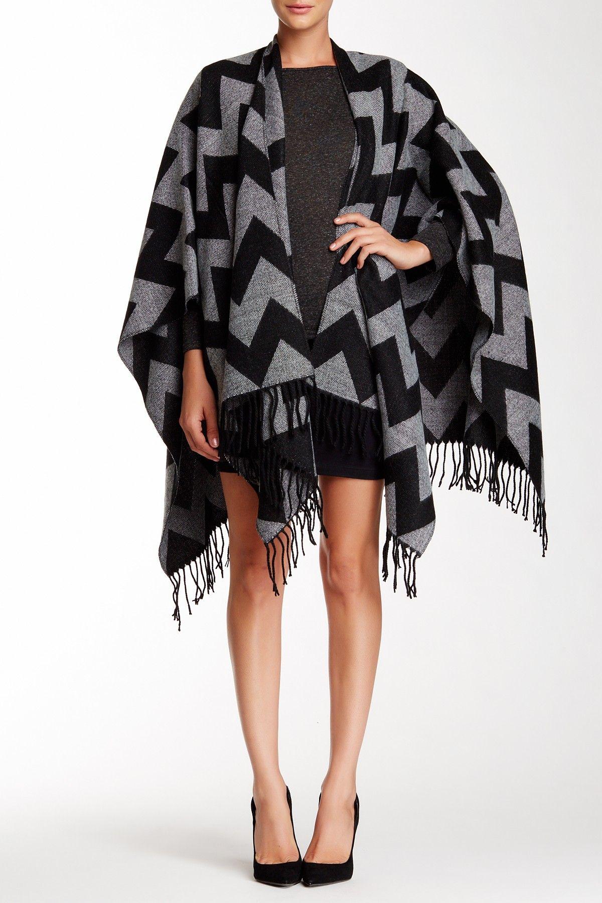 David & Young Chevron Knit Shawl Knitted shawls