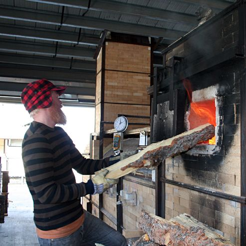 Red Lodge Clay Center Resident Artist, Perry Haas fires the Train/Wood Kiln!
