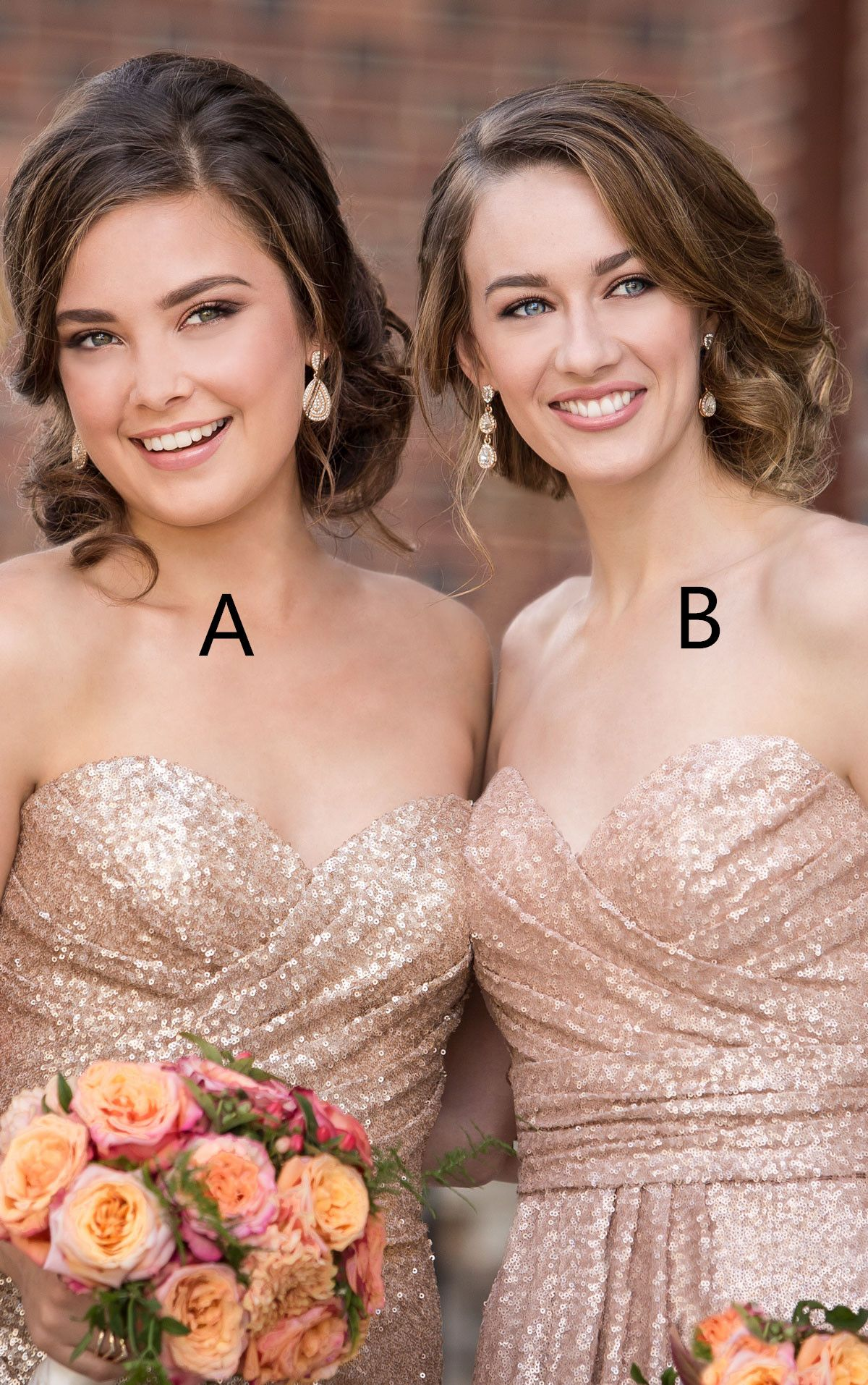 Sparkly strapless rose gold long sequins bridesmaid dress from sparkly strapless rose gold long sequins bridesmaid dress thumbnail 3 ombrellifo Choice Image