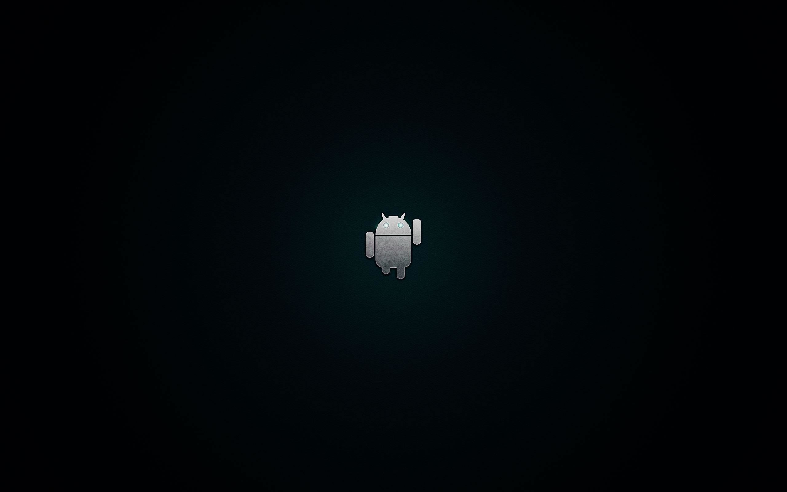 android logo black and white wallpaper Black wallpaper
