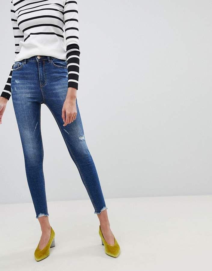 Regular Waist Skinny Jeans - Blue Stradivarius YKAdYuy3d2