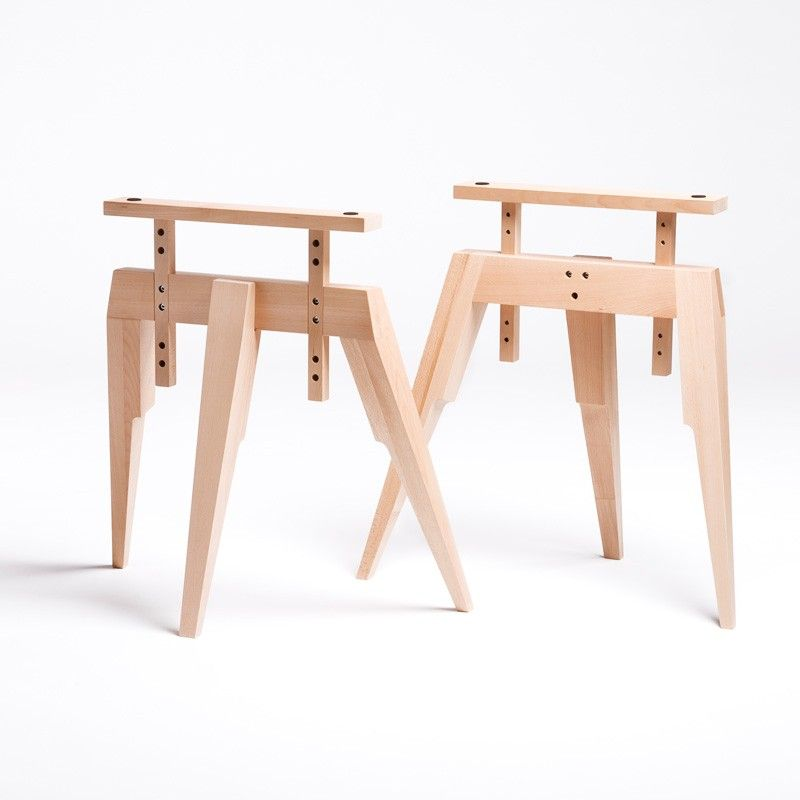 Amazing Compass Table Legs, Beech   Furniture + Lighting   Dining This Is A Great  Idea, Maybe Make Sawhorse In Nice Wood And Add Adjustable Cross Pieces?