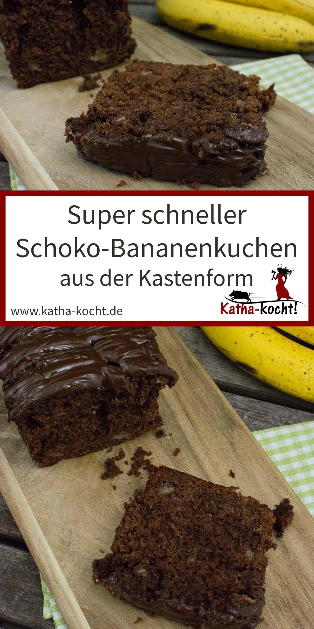 Schneller Schokoladen-Bananen-Kuchen aus der Kastenform, #aus #der