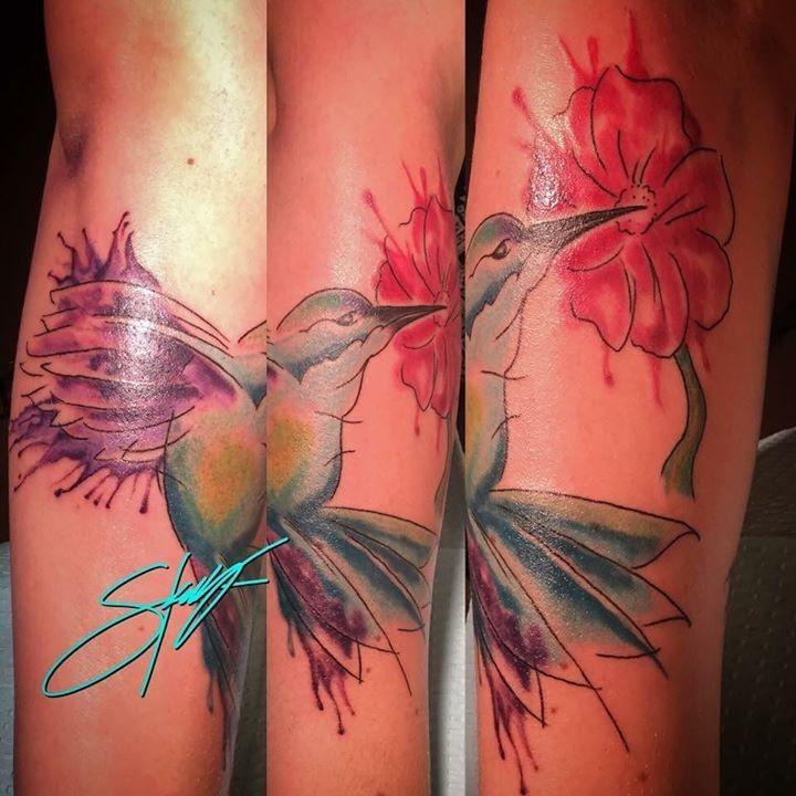 Birds tattoo by faechi from sacred art tattoo tucson