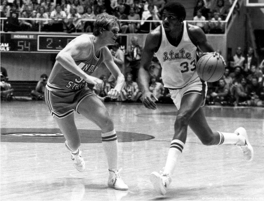 Magic Johnson wore Power shoes for the historical game Bird vS. Magic in 1979. The NCAA Tournament generated TV ratings, impact and reactions never seen before.