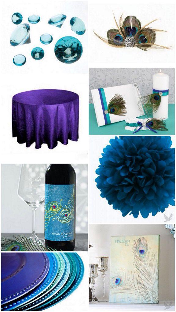 Peacock party supplies