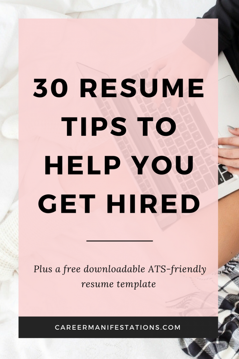 30 resume tips to help you get hired resume building pinterest