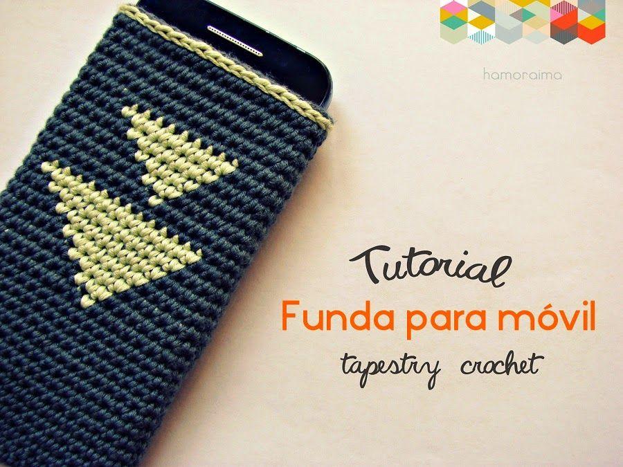 hamoraima: ▽ Patrón de crochet funda móvil ▽ | Tapestry crochet ...