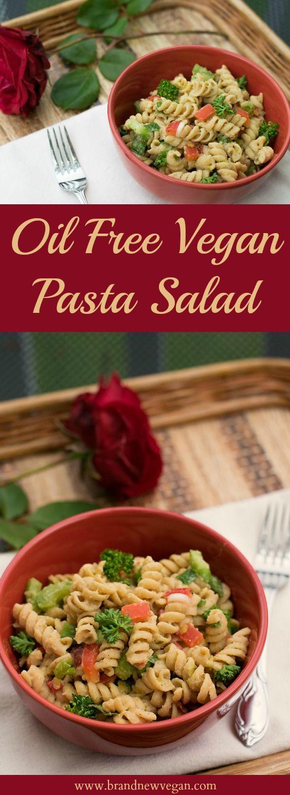 Oil Free Vegan Pasta Salad
