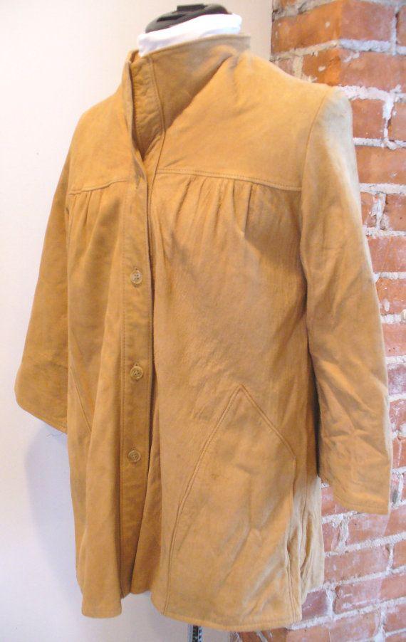 Vintage Palena Knitwear Chamois Suede Jacket 1960/'s
