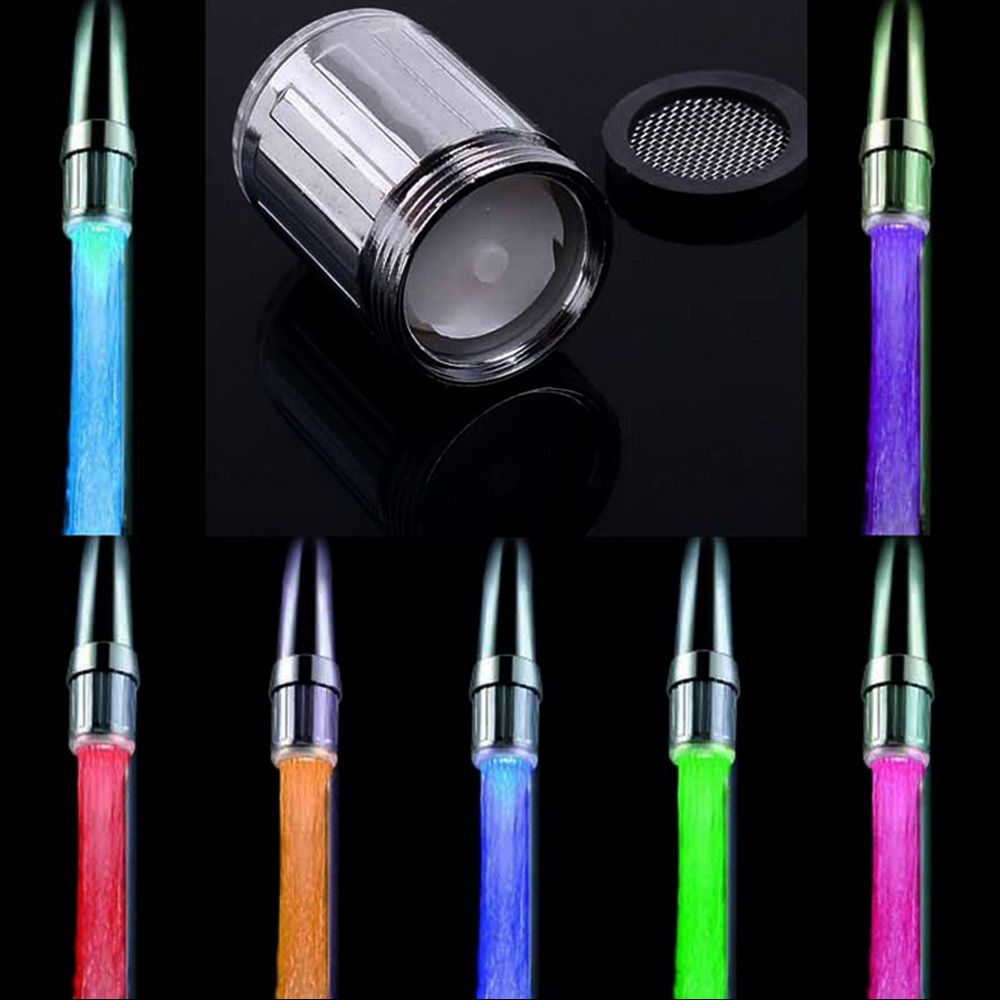 Led Water Faucet Stream Light 7 Colors Changing Glow Shower Stream ...
