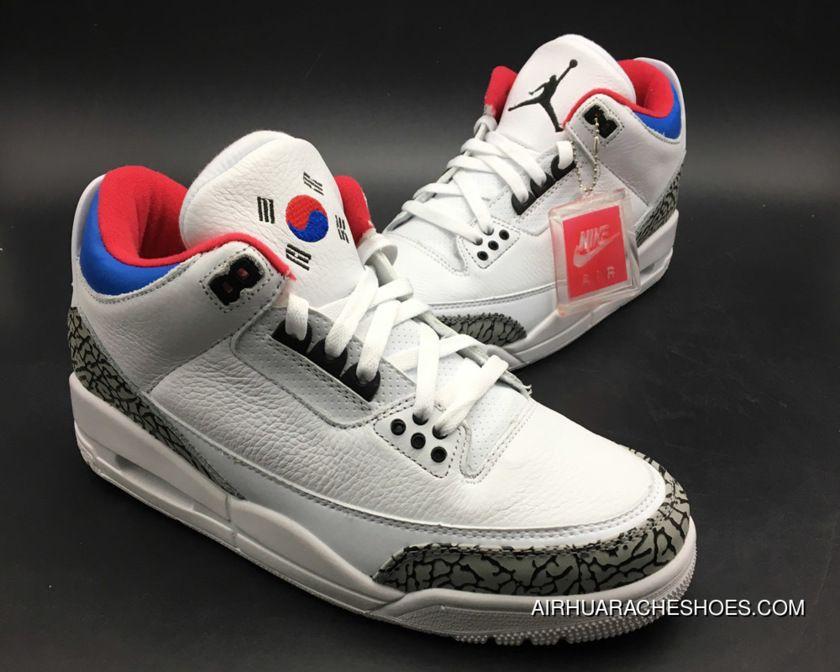 Air Jordan 3 'Seoul' White/Soar-Atom Red Online, Price: $115.91 ...