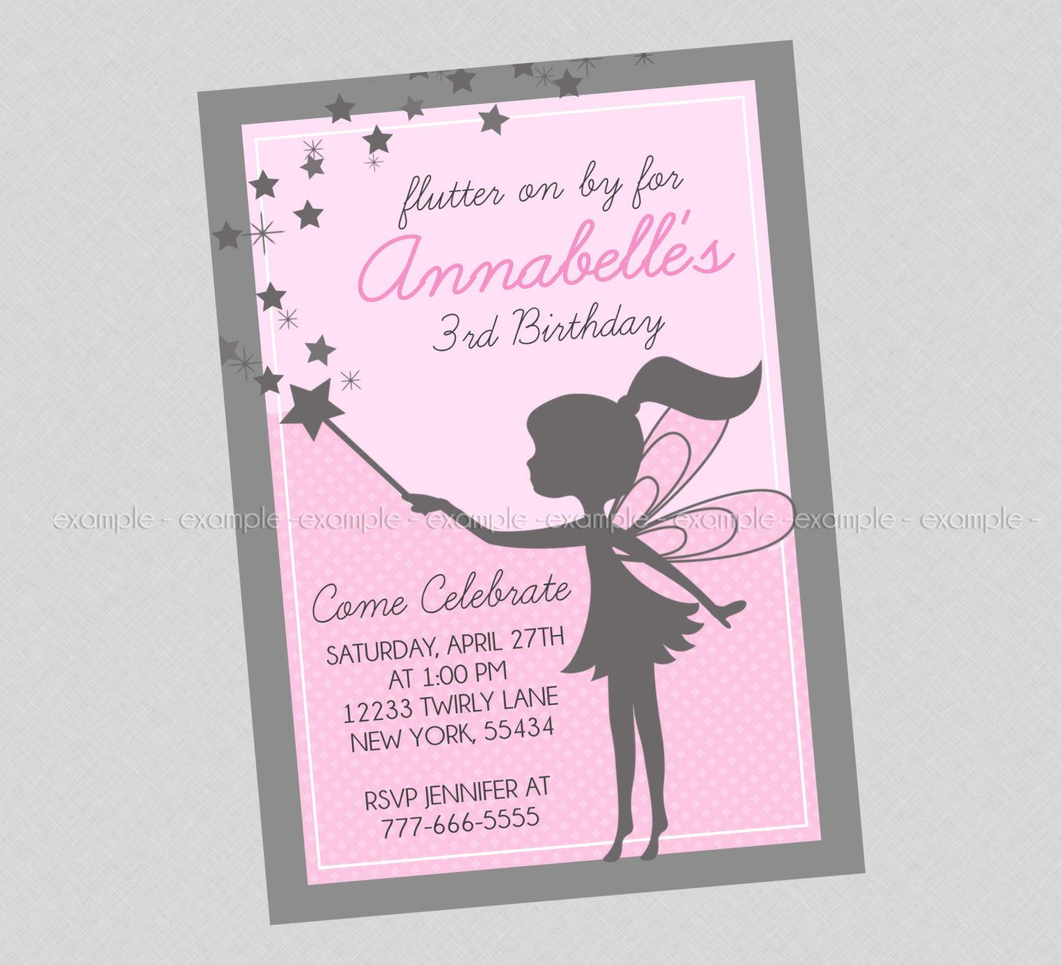 Sweet Fairy Birthday Invitation by BriezeesBoutique on Etsy ...