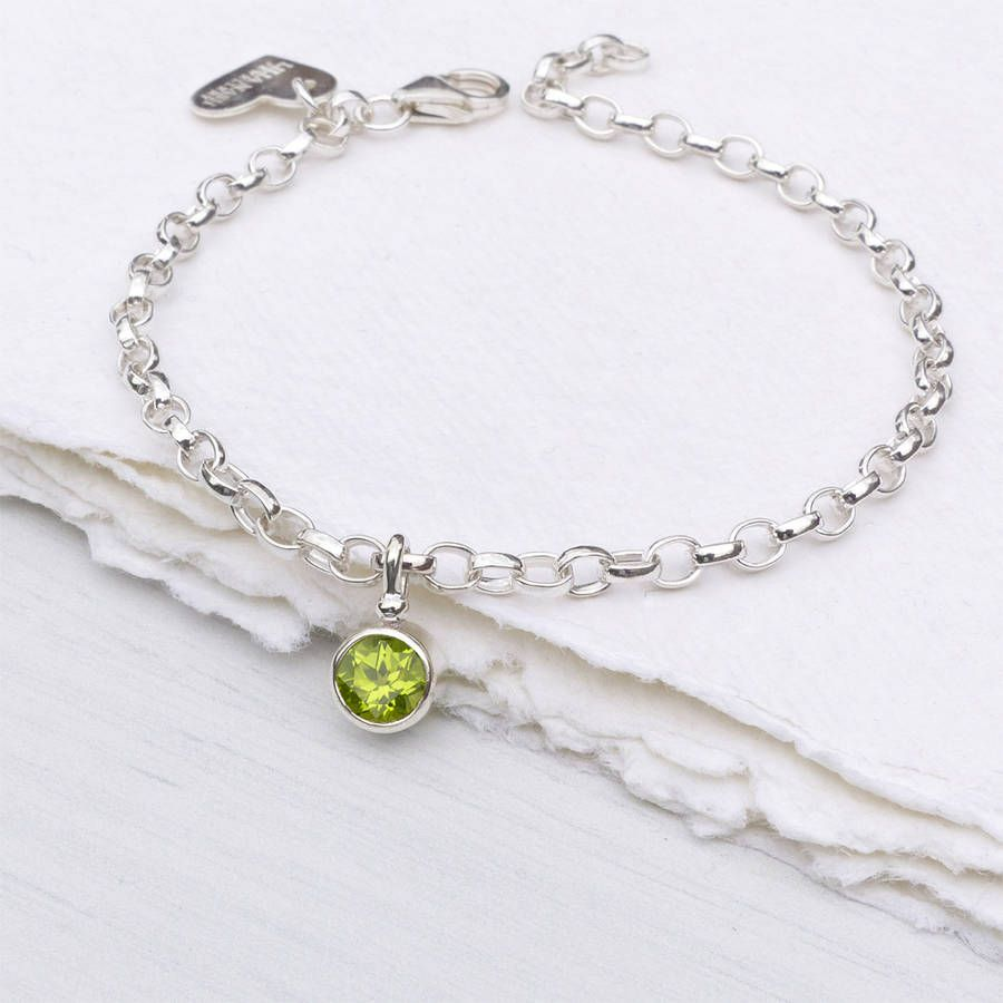 Pin By Just Geeking On Peridot Birthstone Series August Pinterest Bracelet And Charms