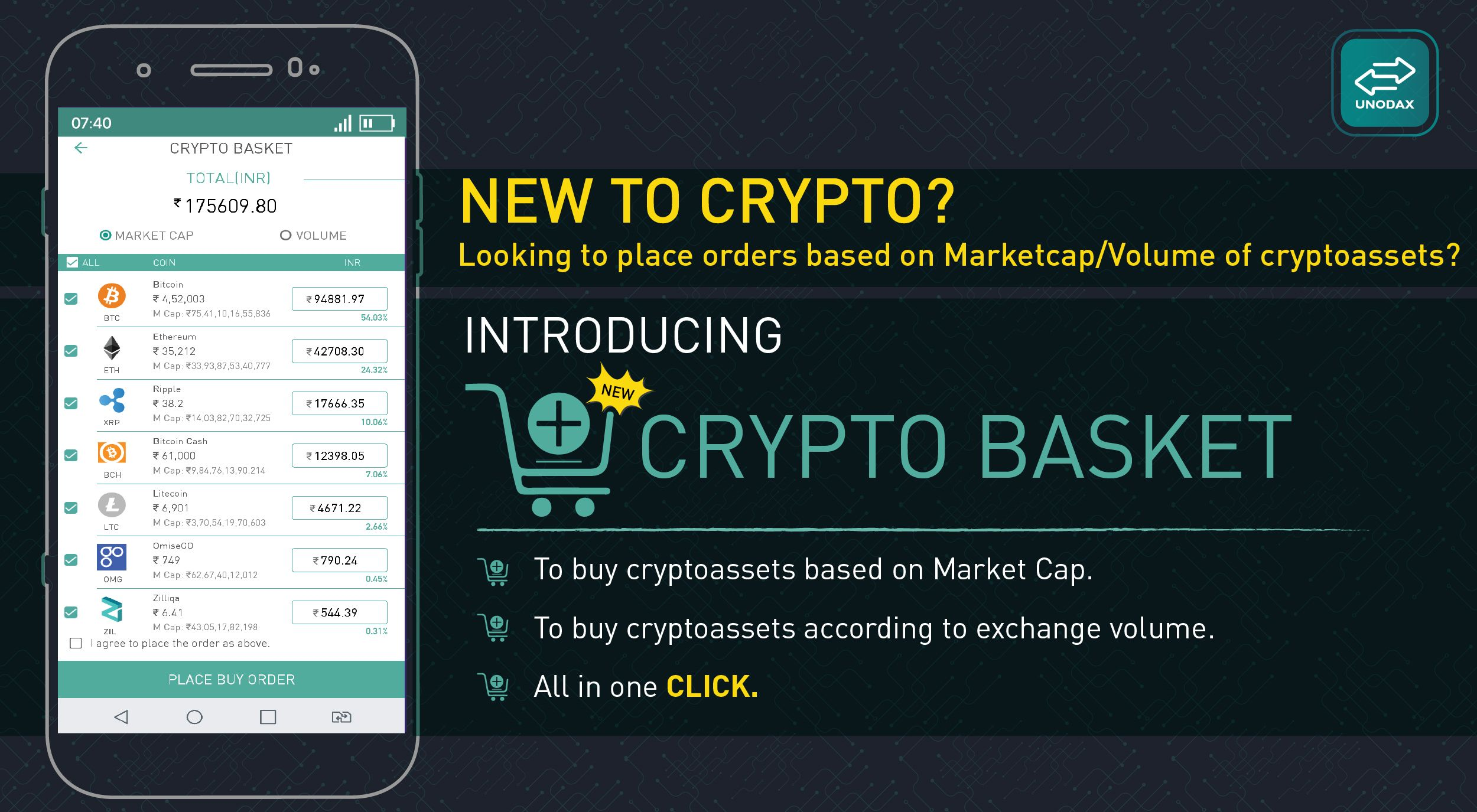 New to crypto? Looking to place orders based on Market Cap