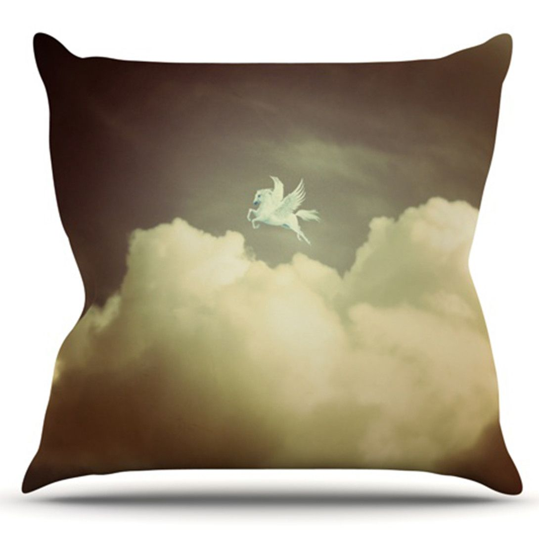 Pegasus by Richard Casillas Outdoor Throw Pillow