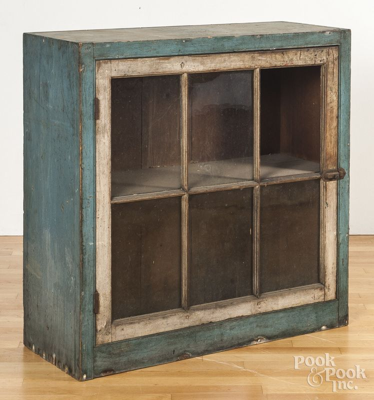 Pennsylvania Spice Cabinet Plans: Pennsylvania Painted Pine Hanging Cupboard