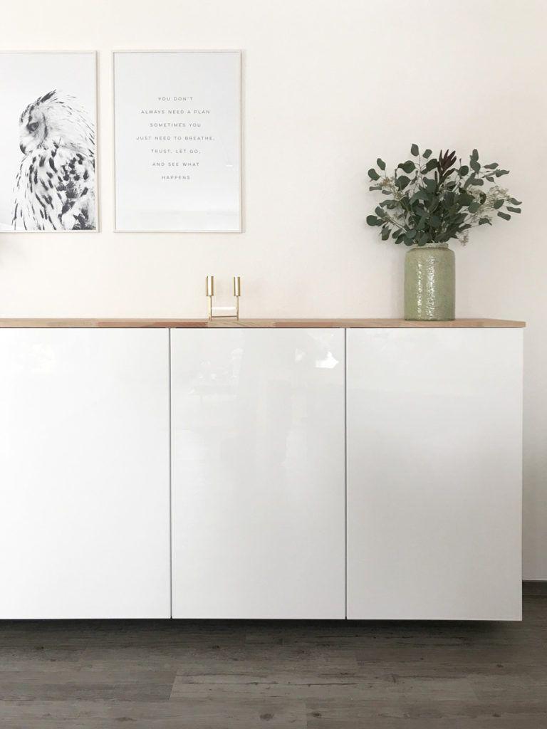 Ikea Hack - Metod Küchenschrank als Sideboard | Brooklyn Home | Ikea ...