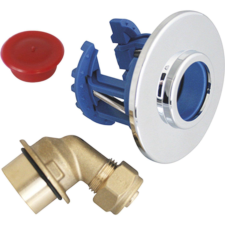 Sortie De Cloison Femelle A Compression Pour Tube Per Diam 12 Mm 15 X 21 Mm Fixoplac Cloison Machine A Laver Et Robinetterie