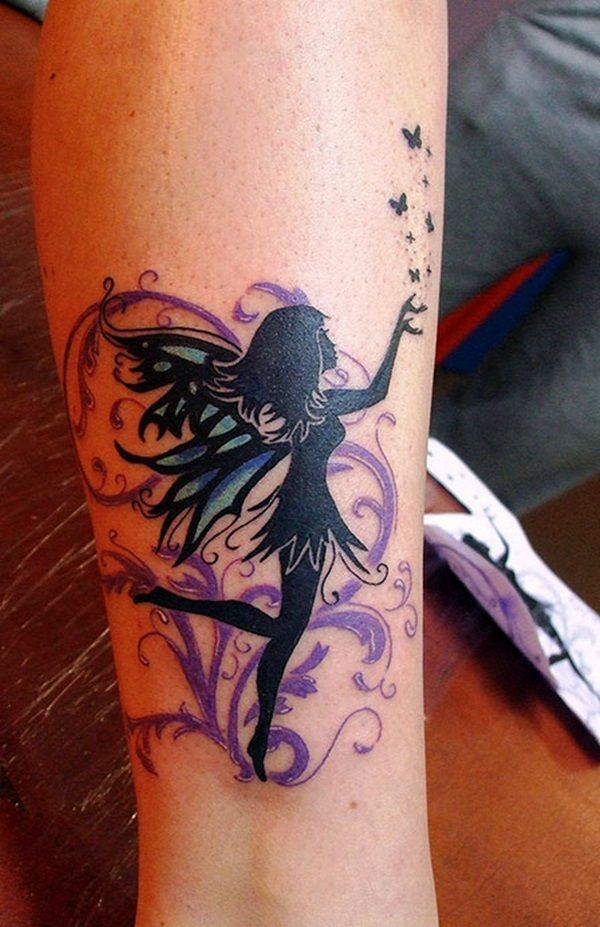 40 adorable fairy tattoo designs tattoo ideen ohren. Black Bedroom Furniture Sets. Home Design Ideas